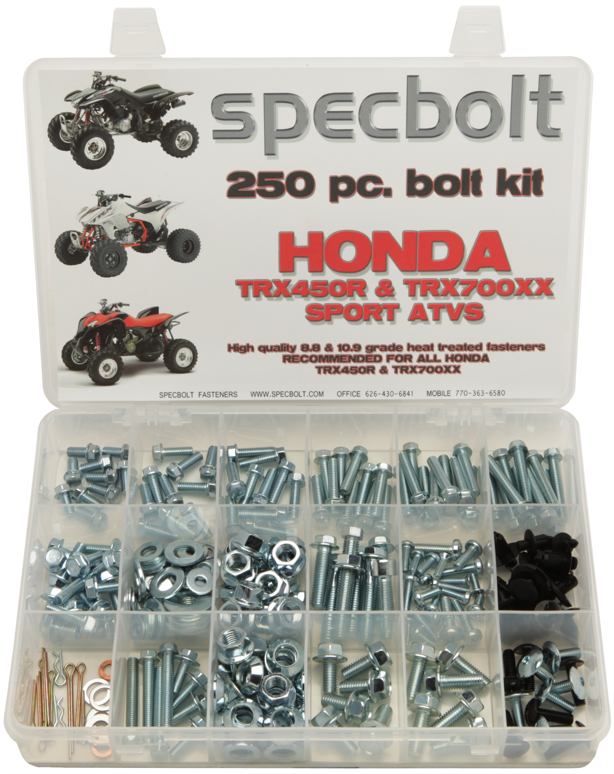 250 piece kit for honda trx450r atv, specbolt