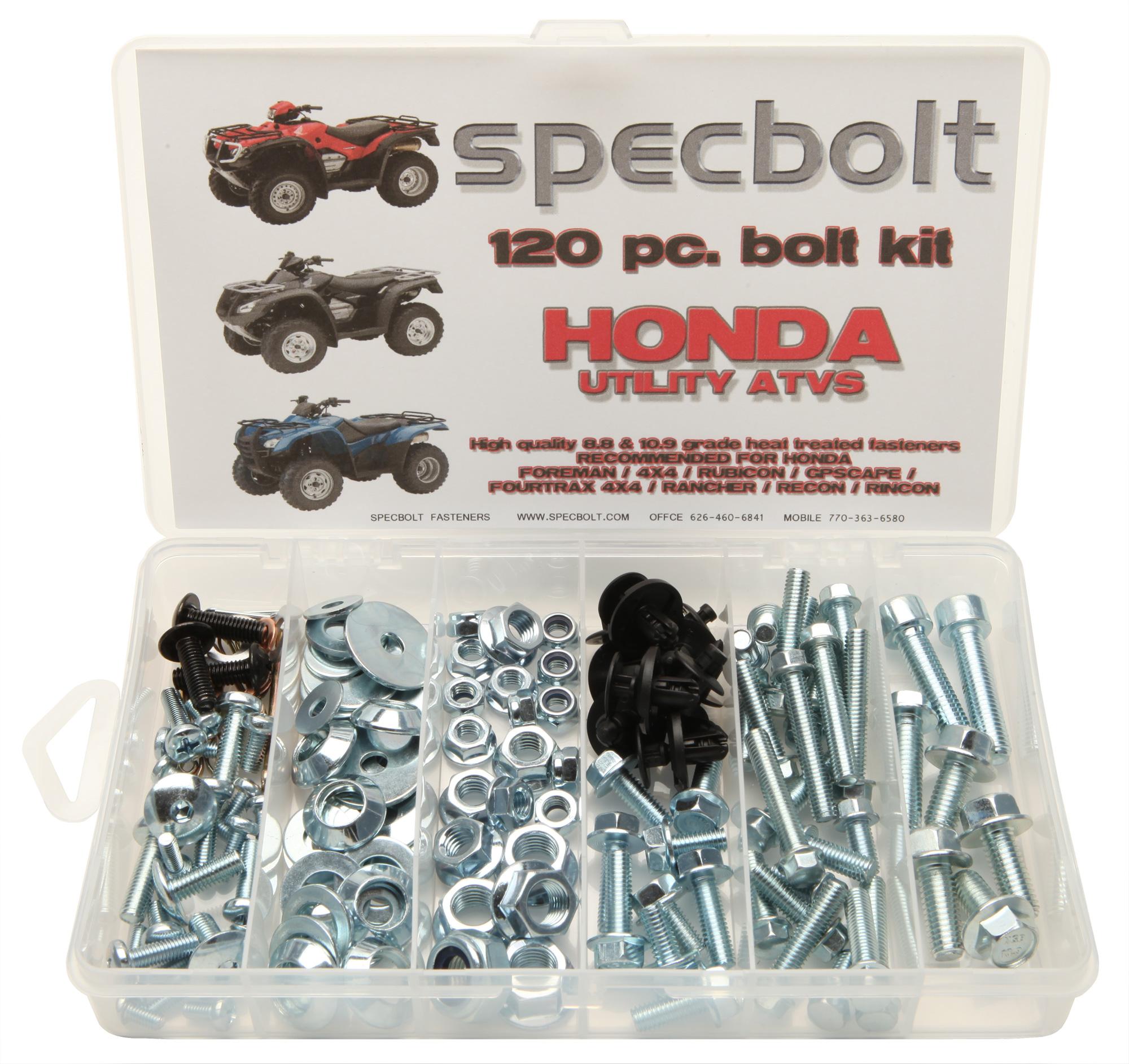 Honda Specbolt 1988 Trx 350 Foreman 120pc 4x4 Rubicon Gp Scape Rancher Rincon Fourtrax