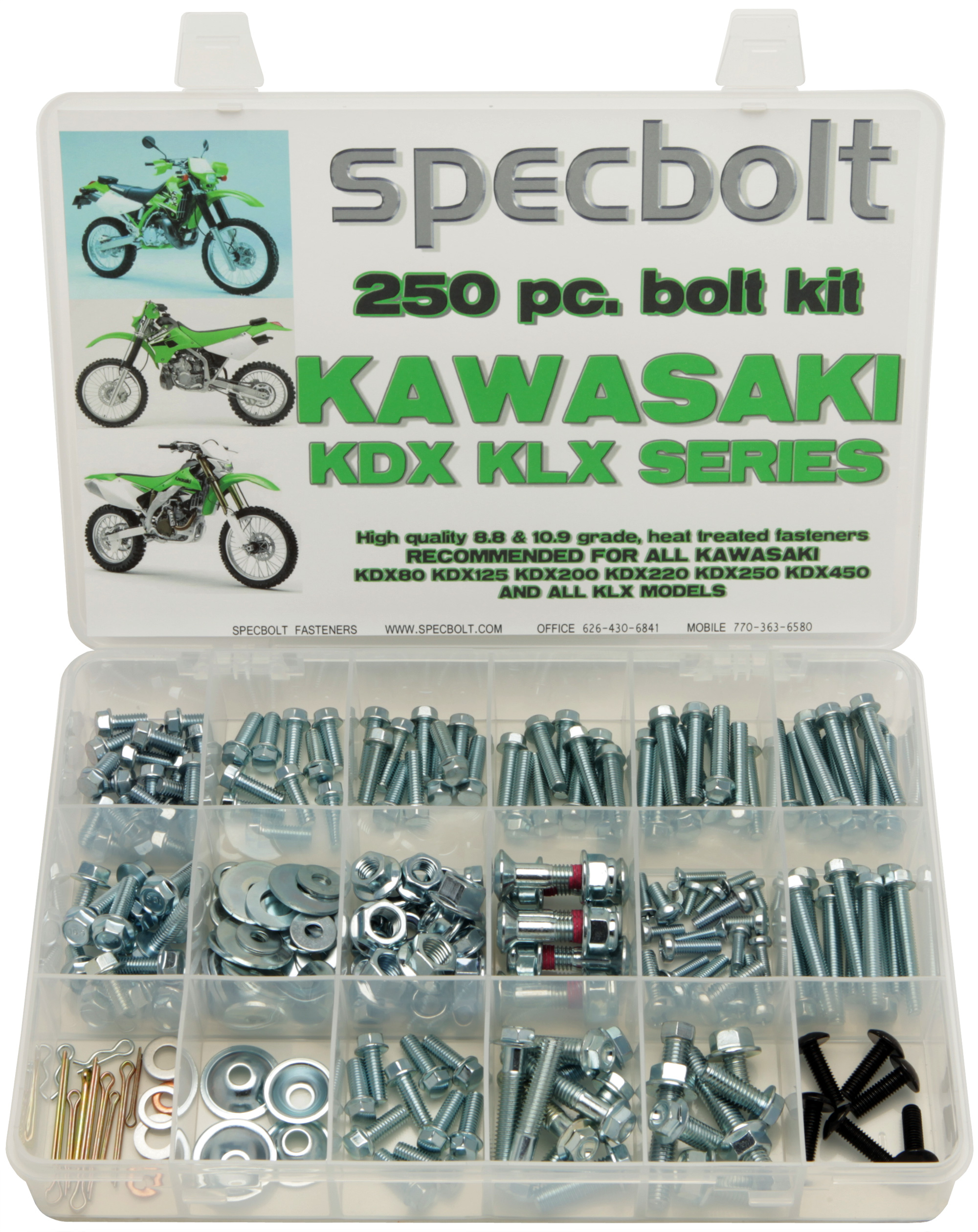 250 Piece Kawasaki Kdx 50 80 175 200 220 225 Klx Klr Specbolt Wiring Harness The Kit Is Designed To Help You Maintain And Restore Your Kdx175 Kdx200 Kdx220 Kdx225 Kdx250 Using Only