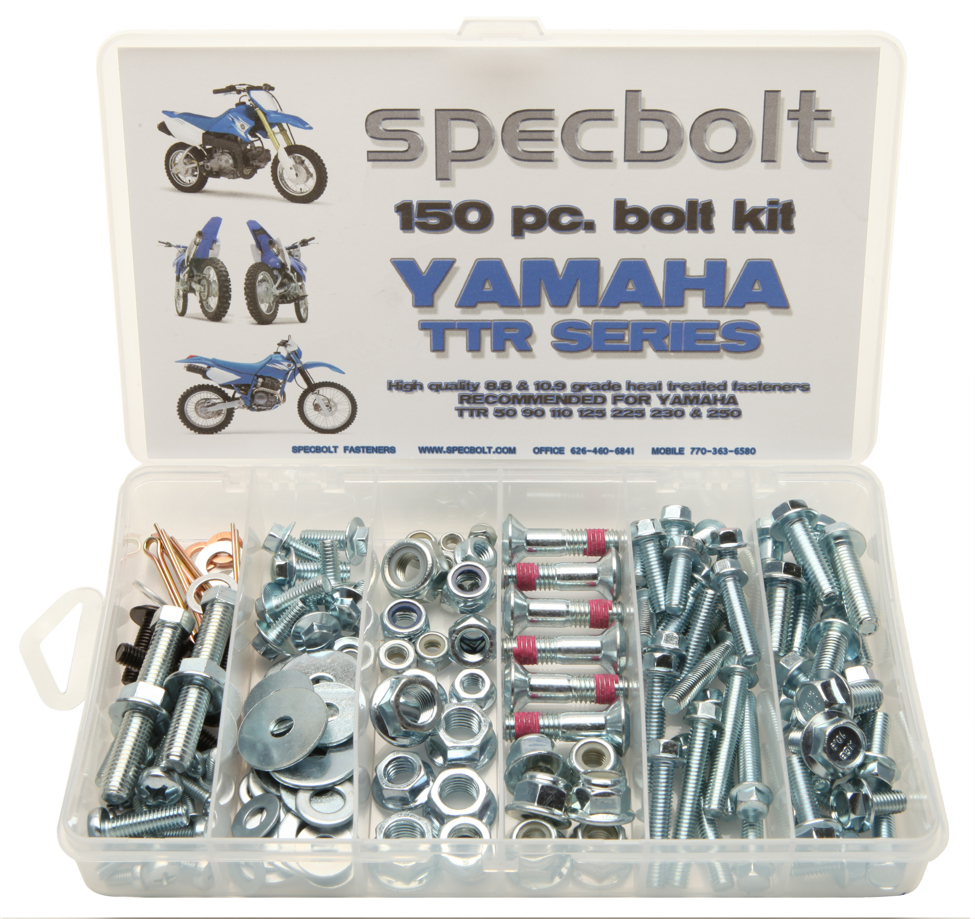 Motorcycle Specbolt Engine Diagram 1299 150pc Yamaha Ttr 50 90 110 125 225 250 4 Stroke Bolt Kit
